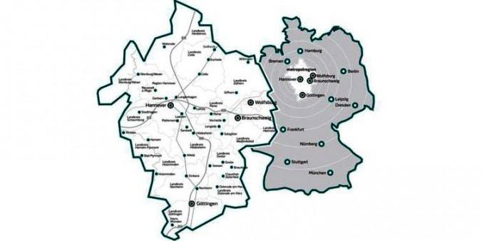 Die Metropolregion. Hannover-Braunschweig-Göttingen-Wolfsburg. @ Metropolregion GmbH
