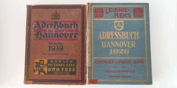 Adressbücher Hannover (Quelle: Stadtbibliothek Hannover)