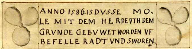 Faksimile aus der Chronik von Johann Heinrich Redecker